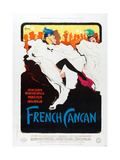 FRENCH CANCAN  poster art  1955