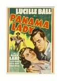 PANAMA LADY  foreground from left: Lucille Ball  Allan Lane on midget window card  1939