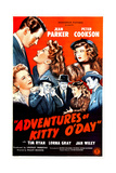 ADVENTURES OF KITTY O'DAY  US poster  top from left: Peter Cookson  Jean Parker  Lorna Gray  1945
