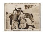 ROPING ROMEO  l-r: Ben Turpin  Slim Summerville  Polly Moran on lobbycard  1917