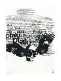 THE BIRDS  (aka PTAKI)  Polish poster  1963
