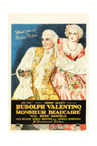 MONSIEUR BEAUCAIRE  l-r: Rudolph Valentino  Bebe Daniels on poster art  1924