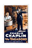 THE VAGABOND  from left: Edna Purviance  Charlie Chaplin  1916