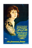 BEHIND MASKS  Dorothy Dalton on 'Style B' 1-sheet poster art  1921
