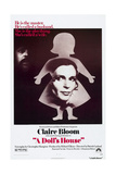 A DOLL'S HOUSE  Anthony Hopkins (rear)  Claire Bloom  1973
