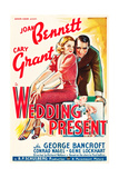 WEDDING PRESENT  US poster art  from left: Joan Bennett  Cary Grant  1936