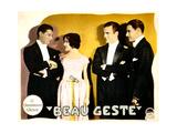 BEAU GESTE  from left: Ralph Forbes  Mary Brian  Neil Hamilton  Ronald Colman on lobbycard  1926