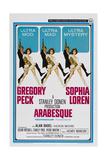 ARABESQUE  US poster  from left: Gregory Peck  Sophia Loren  1966
