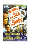 DOWN TO THE SEA IN SHIPS  US poster  left from top: Lionel Barrymore  Dean St