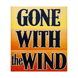 GONE WITH THE WIND  window card  1939