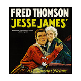 JESSE JAMES  style 'B' poster  left to right: Fred Thomson  Mary Carr  1927