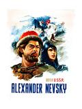 ALEXANDER NEVSKY  (aka ALEKSANDR NEVSKIY)  US poster  far left: Nikolai Cherkasov  1938