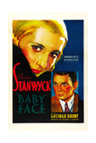 BABY FACE  poster art  from left: Barbara Stanwyck  George Brent  1933
