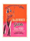 GILDA  Rita Hayworth on US poster art  1946