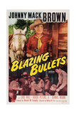BLAZING BULLETS  Johnny Mack Brown on US poster art  1951