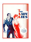 THE LADY LIES  US poster art  from left: Walter Huston  Claudette Colbert  1929