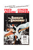THE BARKLEYS OF BROADWAY  Fred Astaire  Ginger Rogers  1949 Poster art