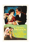 SADIE THOMPSON  top and bottom l-r: Gloria Swanson  Raoul Walsh on poster art  1928