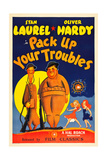 PACK UP YOUR TROUBLES  from left: Stan Laurel  Oliver Hardy on 1940s poster art  1932