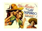 THE GAY DESPERADO  from left: Nino Martini  Ida Lupino  Leo Carrillo  1936