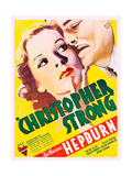 CHRISTOPHER STRONG  US poster art  from left: Katharine Hepburn  Colin Clive  1933
