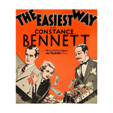 THE EASIEST WAY  l-r: Robert Montgomery  Constance Bennett  Adolphe Menjou on window card  1931