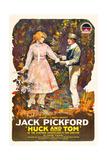 HUCK AND TOM  from left  Clara Horton  Jack Pickford  1918