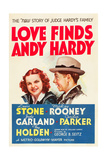 LOVE FINDS ANDY HARDY  l-r: Judy Garland  Mickey Rooney on poster art  1938