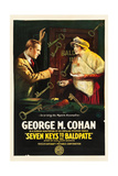 SEVEN KEYS TO BALDPATE  l-r: George M Cohan  Anna Q Nilsson on poster art  1917