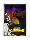 CHINATOWN  German poster  Jack Nicholson (center)  1974