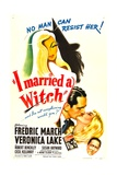 I MARRIED A WITCH  bottom from left: Fredric March  Veronica Lake  Robert Benchley  1942