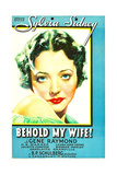 BEHOLD MY WIFE  Sylvia Sidney on US poster art  1934