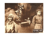 THE FLYING ACE  left: Kathryn Boyd  right: Lawrence Griner on lobbycard  1926
