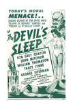 THE DEVIL'S SLEEP  US poster  1951