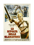 THE ARENA  (aka LA RIVOLTA DELLE GLADIATRICI)  Italian poster  center: Lucretia Love  1974