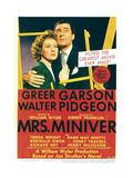 MRS MINIVER  from left: Greer Garson  Walter Pidgeon on midget window card  1942