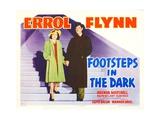 FOOTSTEPS IN THE DARK  Brenda Marshall  Errol Flynn  1941