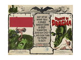 THE CURSE OF FRANKENSTEIN   1957  HORROR OF DRACULA  1958  US lobbycard  Christopher Lee