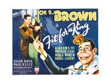 FIT FOR A KING  from left: Joe E Brown  Helen Mack  Joe E Brown in caricature (far right)  1937