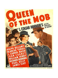 QUEEN OF THE MOB  center from left: Blanche Yurka  Ralph Bellamy on window card  1940