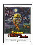 FROM BEYOND THE GRAVE  (aka FRISSONS D'OUTRE-TOMBE)  French poster art  1973