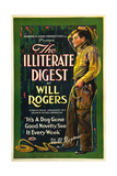 THE ILLITERATE DIGEST  Will Rogers  1924
