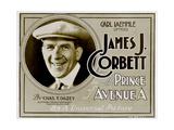 THE PRINCE OF AVENUE A  James J Corbett on 'Title card' to lobbycard set  1920