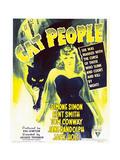 Cat People  Simone Simon on window card  1942
