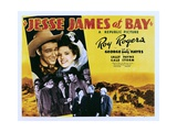JESSE JAMES AT BAY  top from left: Roy Rogers  Gale Storm  center left: George 'Gabby' Hayes  1941