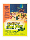 QUEEN OF OUTER SPACE  foreground: Zsa Zsa Gabor on poster art  1958