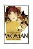 WOMAN  1918  poster art