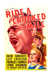 RIDE A CROOKED MILE  US poster art  from top: Akim Tamiroff  Leif Erickson  Frances Farmer  1938
