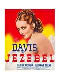 JEZEBEL  Bette Davis on window card  1938