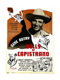 BELLS OF CAPISTRANO  Gene Autry on window card  1942